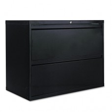 Two-Drawer Lateral File Cabinet, 36w X 19-1/4d X 28-3/8h, Black