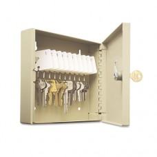 """Uni-Tag Key Cabinet, 10-Key, Steel, Sand, 6 7/8 X 2"""" X 6 3/4"""""""""""