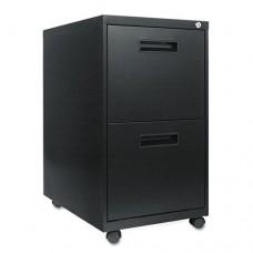 Two-Drawer Metal Pedestal File, 16w X 23-1/4d X 28-1/2h, Black