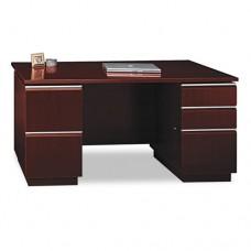 "60""w Double Pedestal Desk (f/f,b/b/f) Box 1 Of 2 Milano 2, Harvest Cherry"