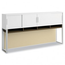 "Momentum Collection 72"" Overhead W/doors, White/mocha Cherry"