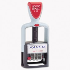 "Two-Color Word Dater, 1 3/4 X 1, ""faxed,"" Self-Inking, Blue/red"
