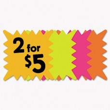 Die Cut Paper Signs, 5 1/4 X 5 1/4, Square, Assorted Colors, Pack Of 48 Each