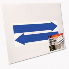 Stake Sign, Blank White, Includes Directional Arrows, 15 X 19