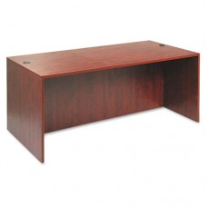 Alera Valencia Series Straight Desk Shell, 71w X 35 1/2d X 29 5/8h, Med Cherry