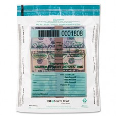 Cash Bags, 9 X 12, Clear, 100/pack