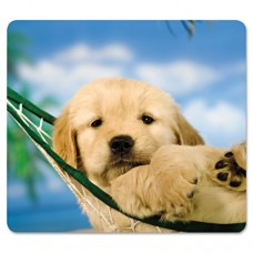 Recycled Mouse Pad, Nonskid Base, 7 1/2 X 9, Puppy In Hammock
