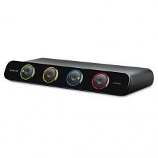 Soho Desktop Kvm Switch With Cables, 4-Port, Ps/2, Usb