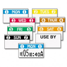 Freshmarx Freezx Color-Coded Labels, Monday, White/blue, 2500/roll