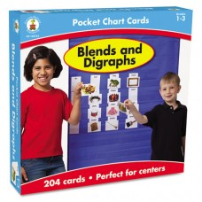 Blends And Digraphs Cards For Pocket Chart, 4 X 2 3/4, 204 Cards, Ages 4-5