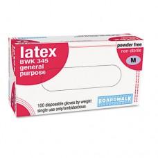 General-Purpose Latex Gloves, Powder-Free, 5 Mils, Medium, Natural, 100/box