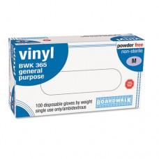 Exam Vinyl Gloves, Powder&latex-Free, 4 Mils, Medium, Clear, 100/box