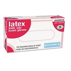 Powdered Latex Exam Gloves, Small, Natural, 100/box