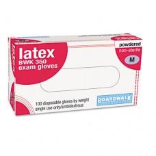 Disposable Powdered Latex Exam Gloves, Medium, Natural, 100/box