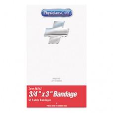 "Xpress First Aid Kit Refill, Bandages, 3/4"" X 3"" Plastic, 50/box"
