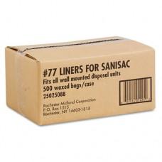 Waxed Sanitary Napkin Receptacle Liners, 7 1/2w X 3d X 10h, Tan, 500/carton