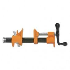 "Pipe Clamp Fixture, 3/4"", Iron, Orange/black/silver"