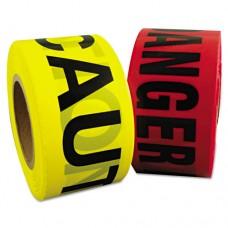 """Danger Barrier Tape, Red/black, 3 In X 1000ft, """"danger"""" Text, 8/carton"""