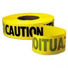 "Caution Barricade Tape, ""caution"" Text, 3"" X 1000ft, Yellow/black"