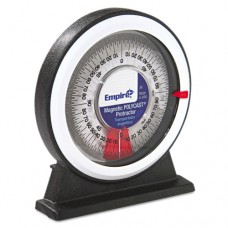 Magnetic Polycast Angle Meter Protractor, 0 90, 5w X 5 3/4h, Plastic