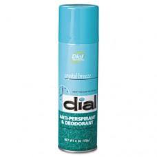 Scented Anti-Perspirant & Deodorant, Crystal Breeze, 6oz Aerosol, 12/carton
