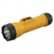 Industrial Heavy-Duty Flashlight, 2d (sold Separately), Yellow/black