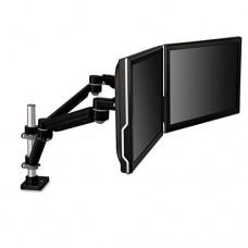 Easy-Adjust Dual Monitor Arm; 4 1/2 X 25 1/2, Black/gray