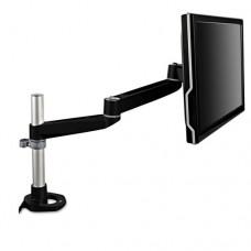 Dual-Swivel Monitor Arm, 4 1/2 X 19 1/2, Black/gray