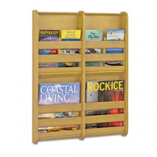 Bamboo Magazine/pamphlet Wall Display, 19-1/2w X 1-3/4d X 25-1/2h, Natural