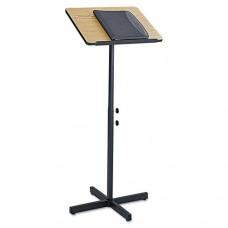 Adjustable Speaker Stand, 21w X 21d X 29-1/2h To 46h, Medium Oak/black