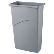 Slim Jim Waste Container, 23 Gal, 20w X 11d X 30h, Gray