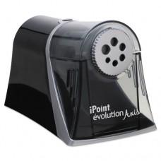 Evolution Axis Pencil Sharpener, Black/silver, 5w X 7 1/2 D X 7 1/4h