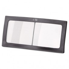 """Magnifier Lens, 2"""" X 4 1/4"""", Glass, 2.5 Diopter"""