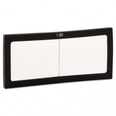 """Magnifier Lens, 2"""" X 4 1/4"""", Glass, 1.0 Diopter"""
