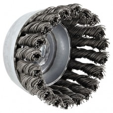 """Usc80 Carbon Steel Knot Wire Cup Brush, .02 Wire, 2 3/4""""dia"""