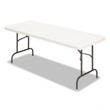 Banquet Folding Table, Rectangular, Radius Edge, 60 X 30 X 29, Platinum/charcoal