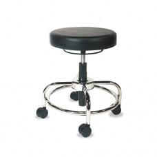 Hl Series Height-Adjustable Utility Stool, Black