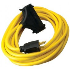 Coleman Cable Generator Extension Cord, 25 ft, 3 Outlets