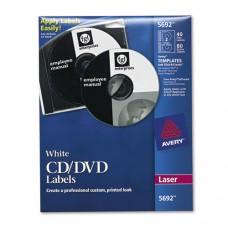 Laser Cd Labels, Matte White, 40/pack
