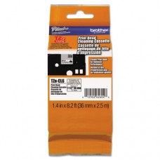 """36mm (1.4"""") Tze Cleaning Tape For P-Touch, 100 Uses"""