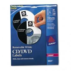 Laser Cd Labels, Matte White, 50/pack