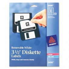 "Laser/inkjet 3.5"" Diskette Labels, White, 375/pack"