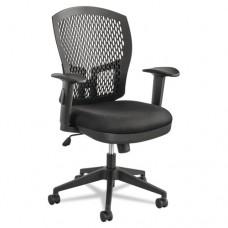Flex Back Swivel/tilt Task Chair, 26-1/2w X 25d X 37-3/8 To 40-1/8h, Black