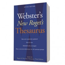Webster's New Roget's Thesaurus Office Edition, Paperback, 544 Pages