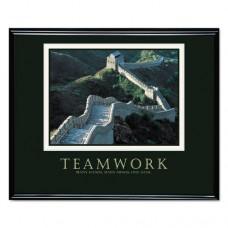 Teamwork (great Wall Of China) Framed Motivational Print, 30 X 24