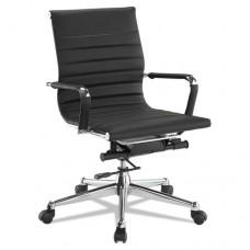 Pantera Series Low-Back Desk Chair, Black