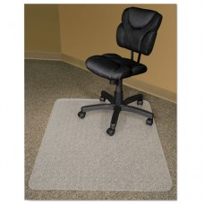 Recycled Chair Mats For Carpets, 60 X 46, Slightly Tinted