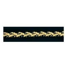 Gold Nylon Oak Leaf Cap Band