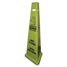 Trivu 3-Sided Wet Floor Safety Sign, Yellow/green, 14 3/4 X 4 3/4 X 40, Plastic