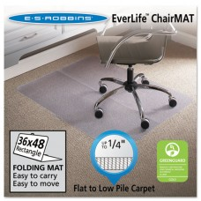 Foldable 36x48 Rectangle Chair Mat, Task Series For Carpet Up To 1/4""